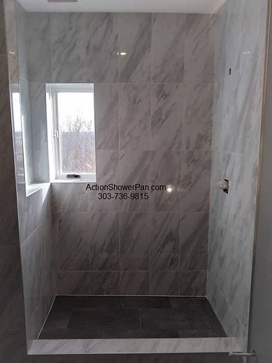 Shower Installation with Porcelain tile