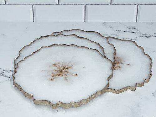 Snowflake Handmade Resin Coaster