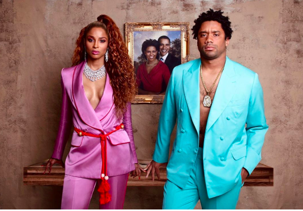 Ciara and Russell Wilson as Beyonce & Jay-Z