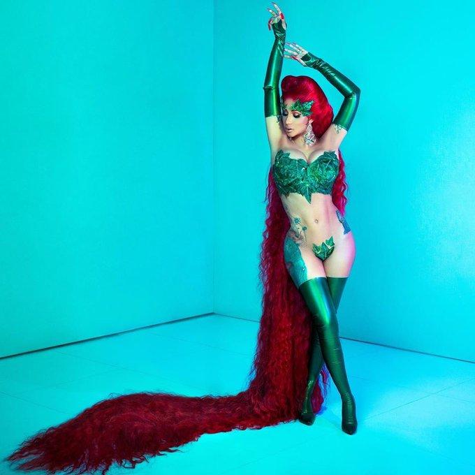 Cardi B as Poison Ivy