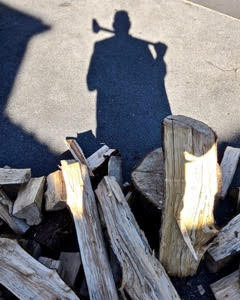 Self Portrait with Wood