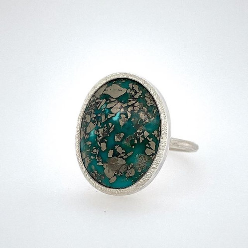 Turquoise Chunky Bezel Ring