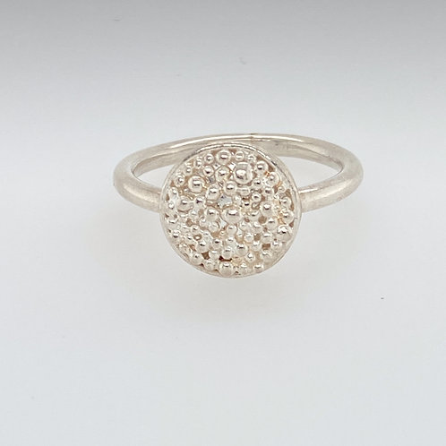 Fine Silver and Sterling Silver Granulation Ring
