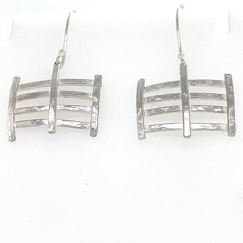 Criss Cross Sterling Silver Earrings