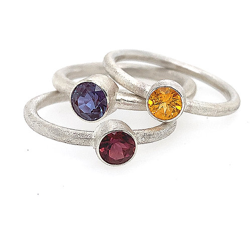 Stackable tube set rings