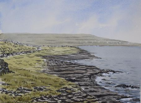 Watercolour tutorial: Inishmore part 2