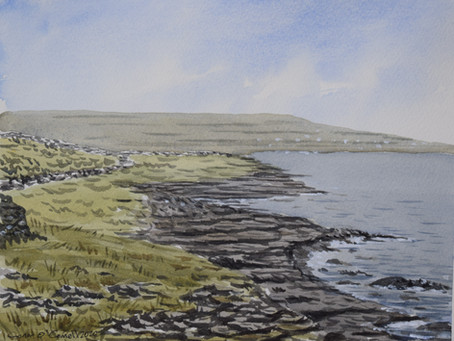Watercolour tutorial: Inishmore part 2