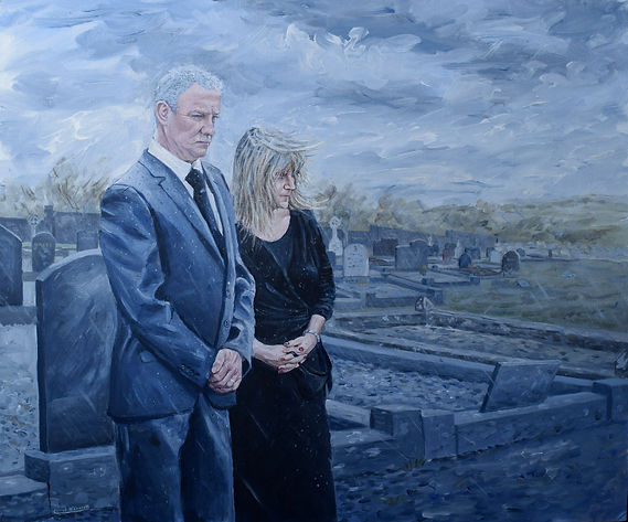 The Funeral, Conor O'Connell, Acrylic on