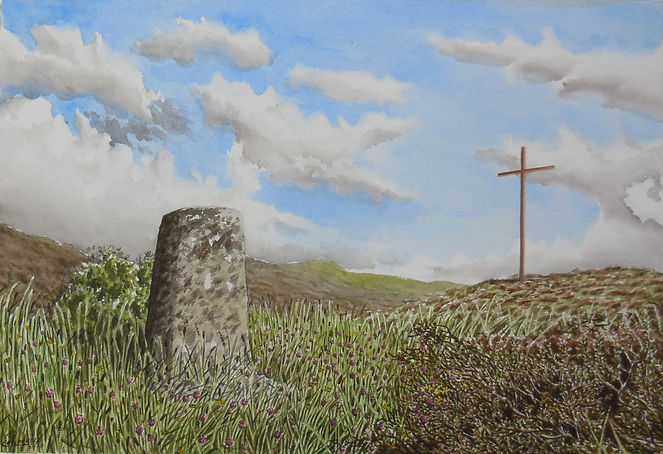 Bockagh hill ballaghaderreen painting