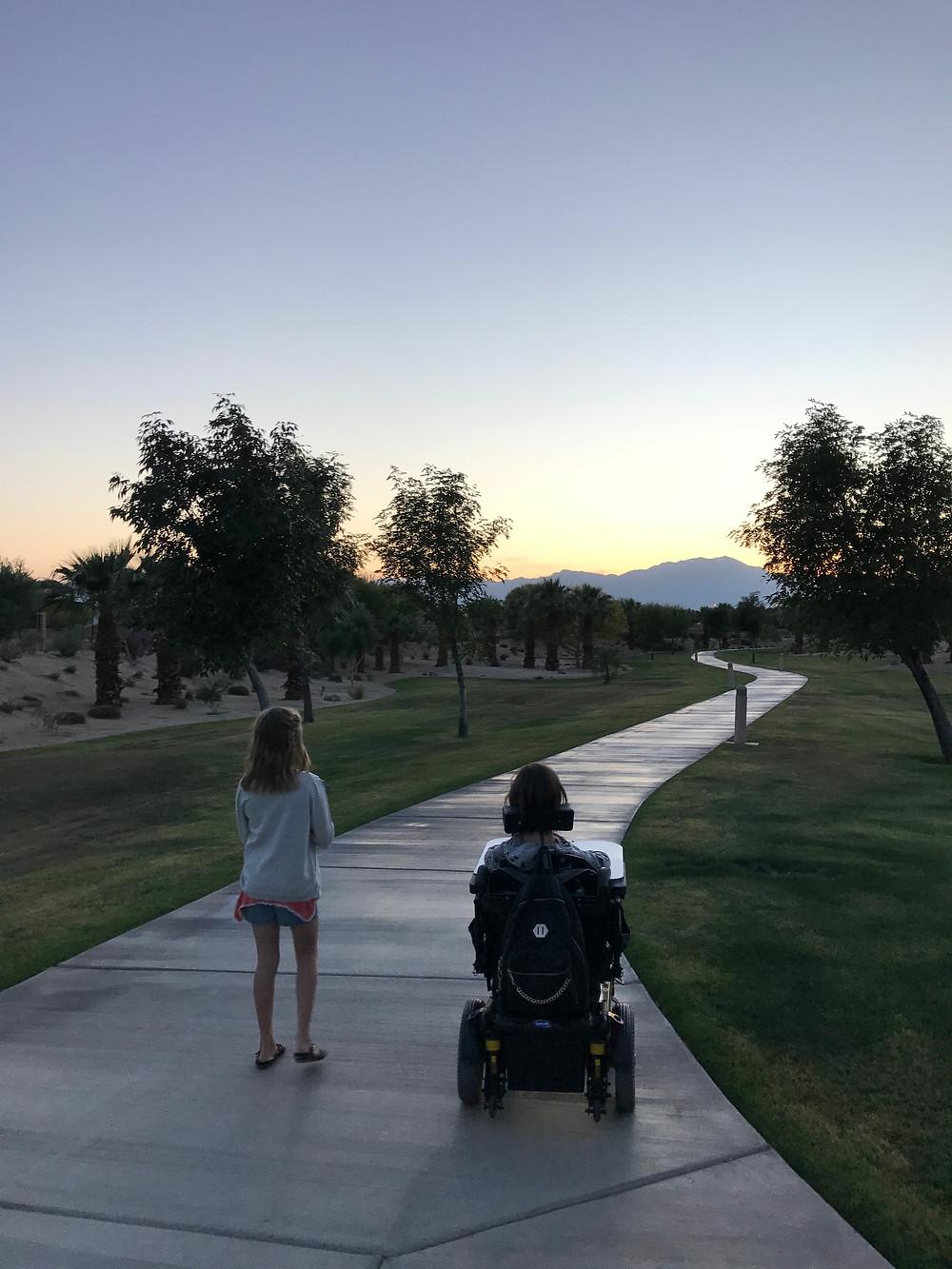 Sidewalk in Palm Springs