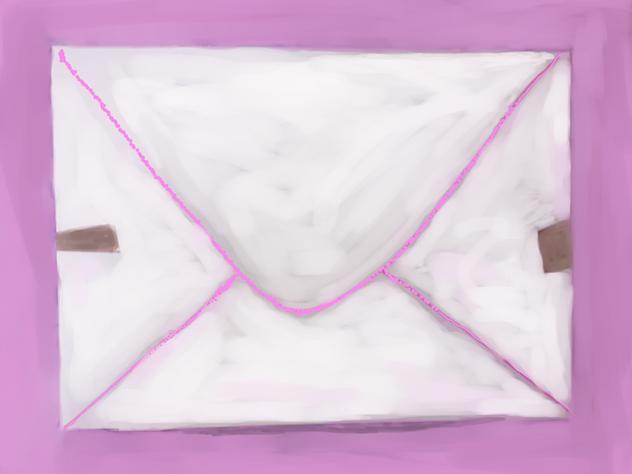 homemade envelope