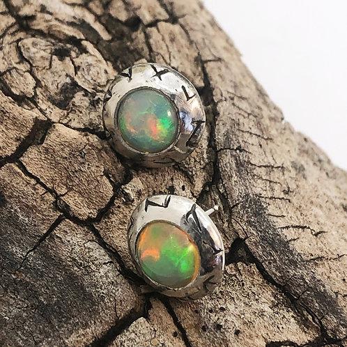 Opal Rune Studs