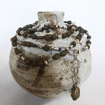 bud vase with Yoruba beads