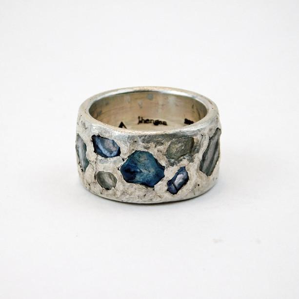 Sapphire Inlay Ring