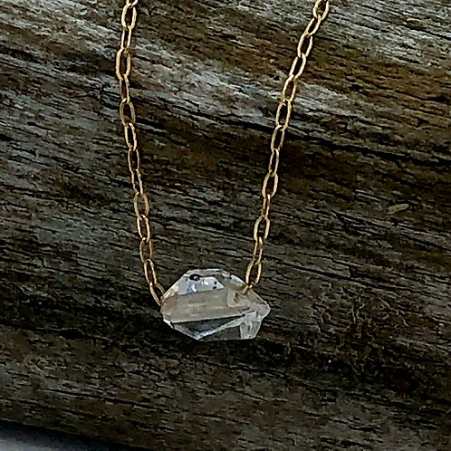Tiny Crystal Gold Chain