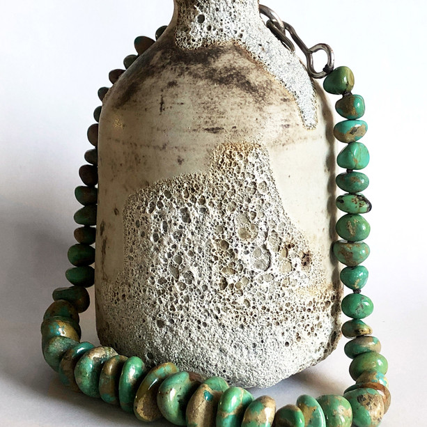 Turquoise on Sake Jar