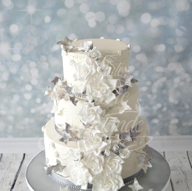 wedding cake rose blanche et lierre  (1)