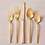 Thumbnail: Gold Flatware Set