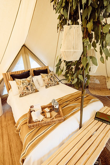 5 metre Bell Tent (unfurnished or furnished)