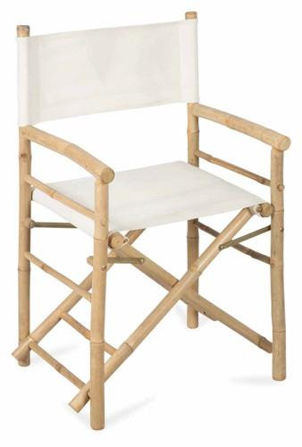 Bamboo Director Chair (White)