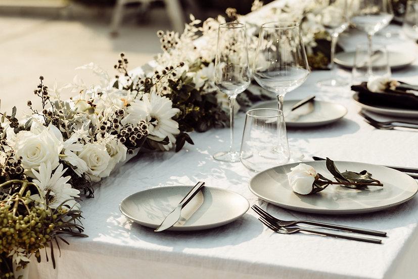 CUSTOM Flatware, Glassware, Plate, Napkin