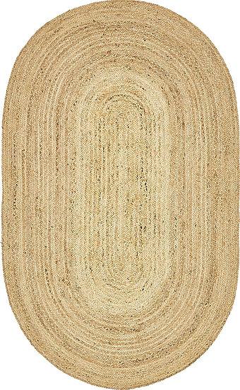 Braided Jute Rug - Oval