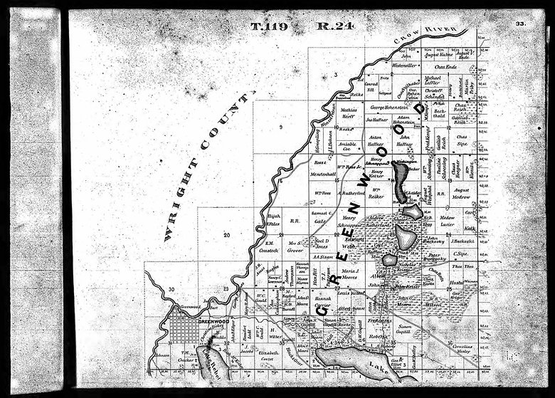 Plat Map of Greenwood 1873