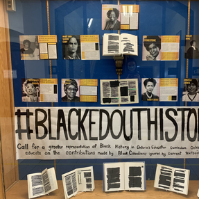 Black History Month Display Case at NHS