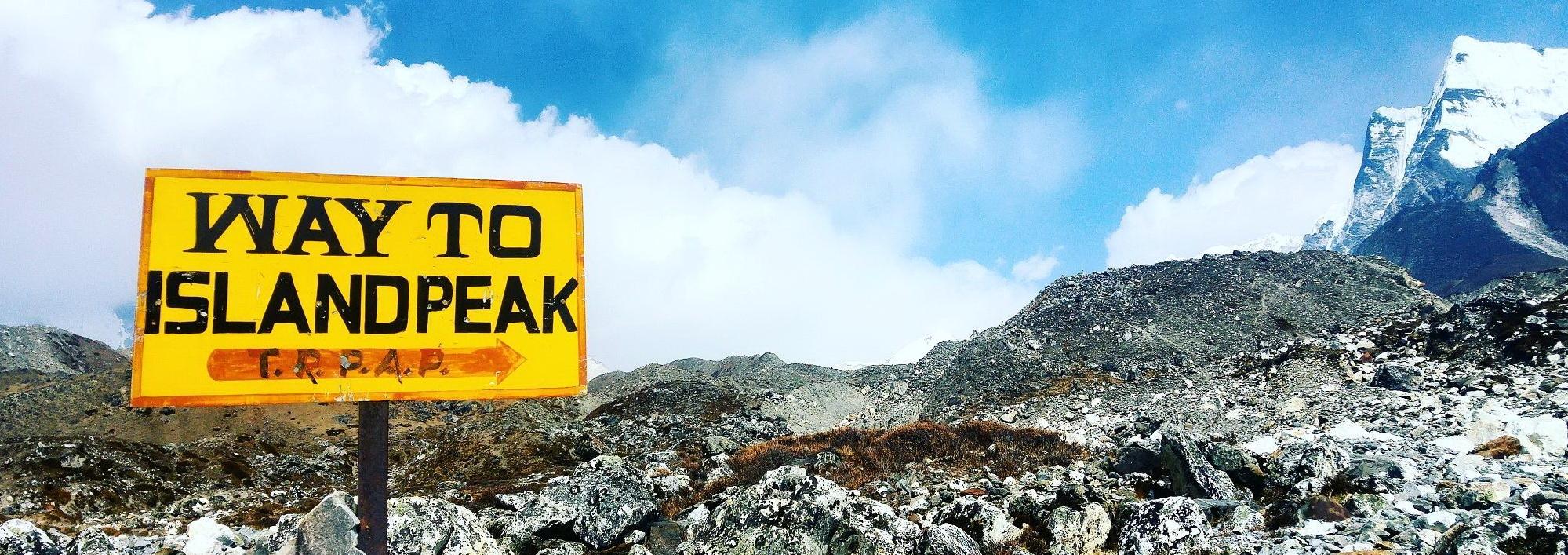 Way to Island Peak
