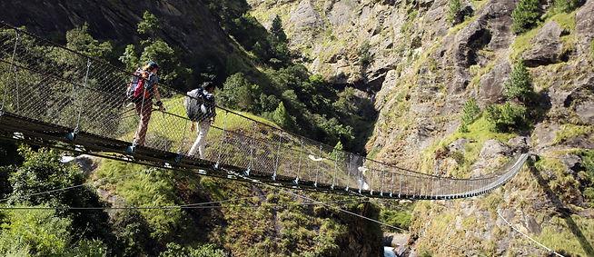 Project Fit Trekker - swing bridge Manaslu circuit trek in Nepal