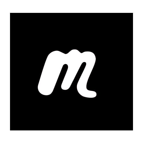 Meetup logo - black