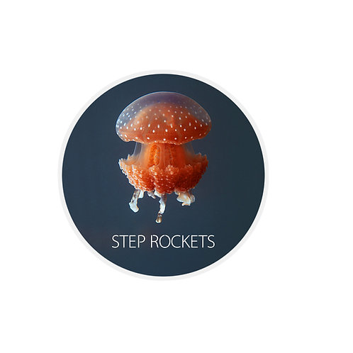 Jelly Fish Sticker (Red)