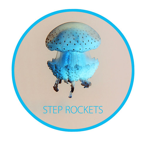 Jelly Fish Sticker (Blue)