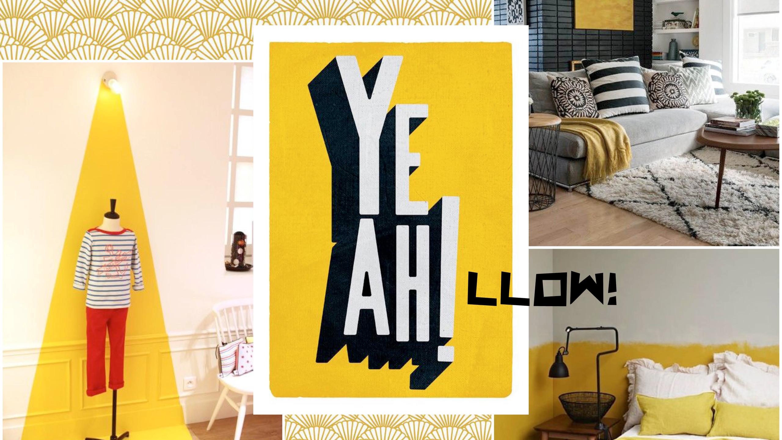 décoration contemporaine jaune