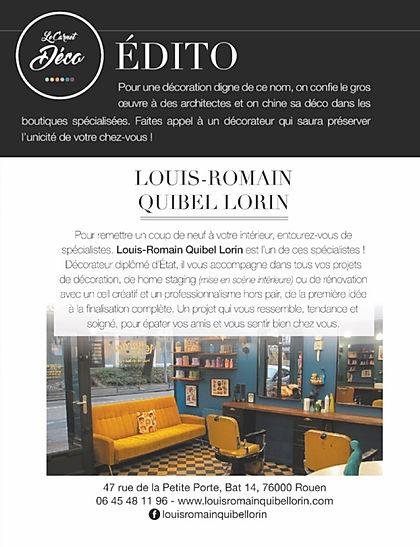 Décoration Rouen Paris Décorateur Louis-Romain Quibel Lorin design architecture interieur