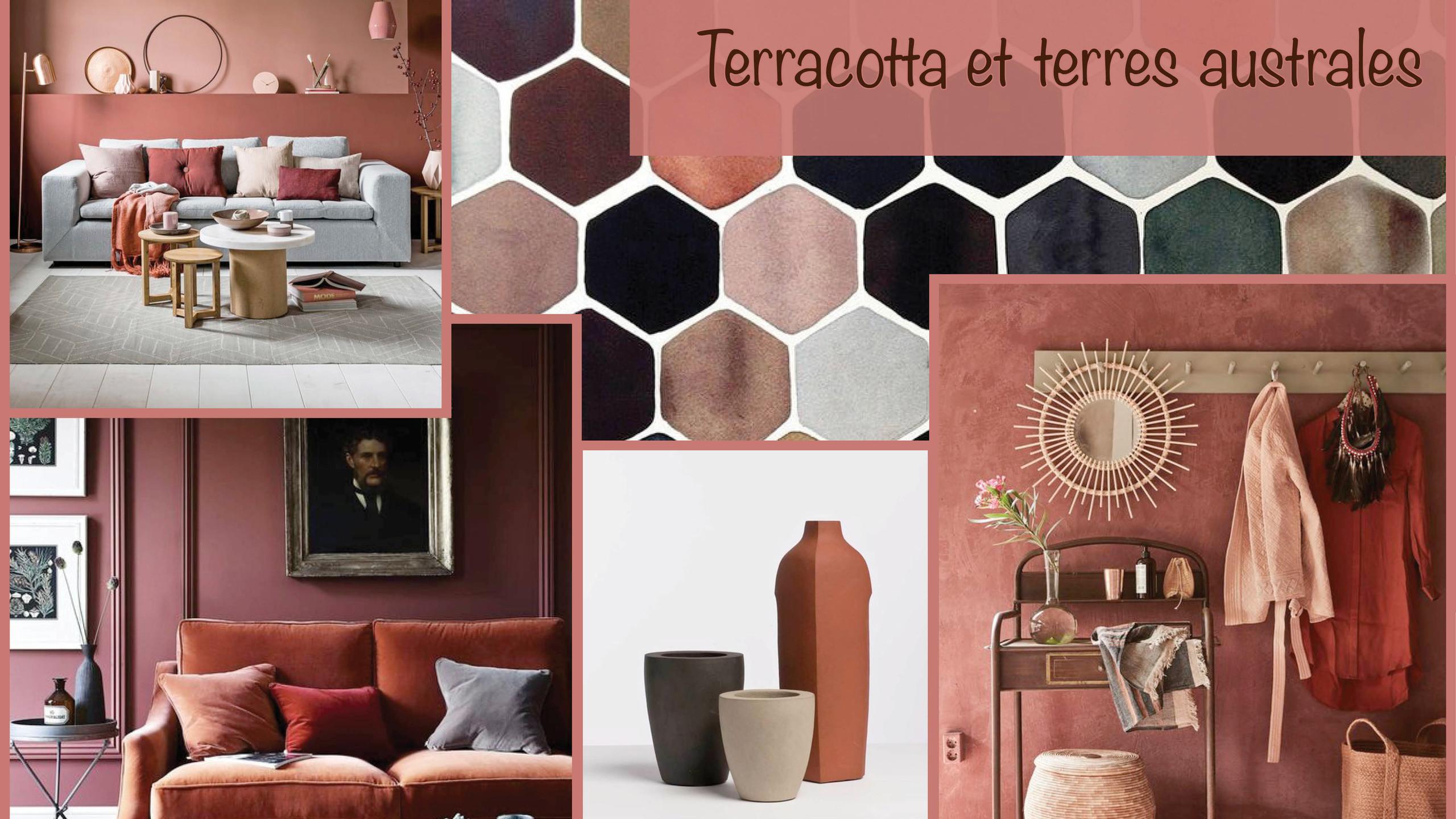 décoration contemporaine terracotta