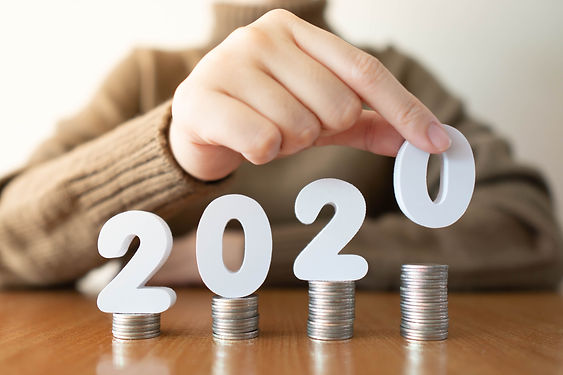 2020 New year saving money and financial