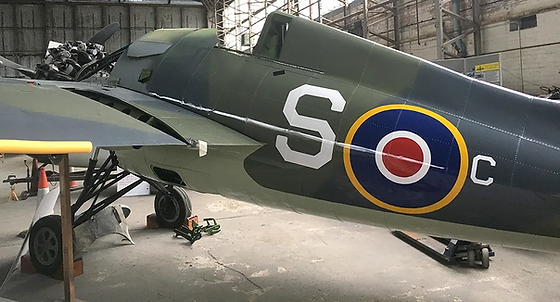 Grumman Wildcat F4F JV482 in Hangar 2 at the Ulster Aviation Society, Oct2017
