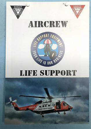 Aircrew Life Support door signage at the Ulster Aviation Society