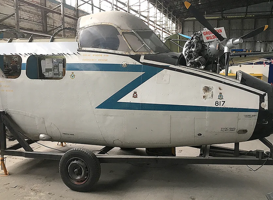Devon Cockpit as a future restoration project back in 2018