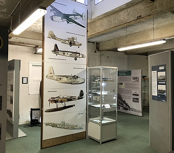 Aldergrove room showing the history of Aldergrove Airport at the Ulster Aviation Society