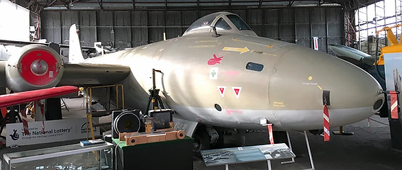 Canberra PR.9 XH131 in the Ulster Aviation Society hangars. Image: Mark J. Cairns