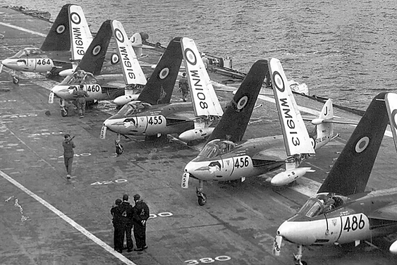 Hawker Sea Hawks on HMS Eagle