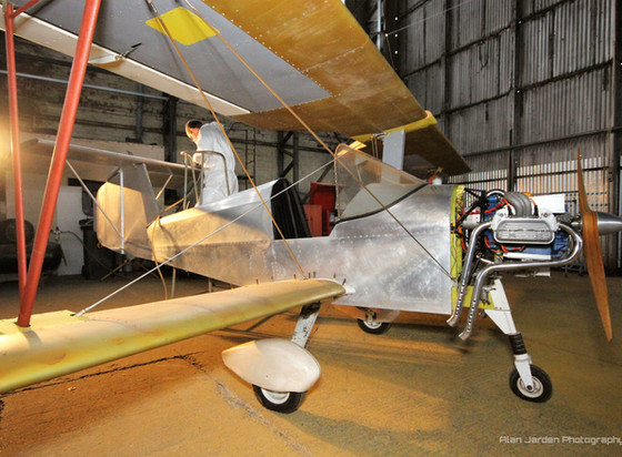 Aerosport Scamp preparation for its new white paint job at the Ulster Aviation Society