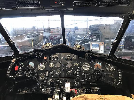 Devon C2 Cockpit Instrument Panel during its restoration in November 2020. Image: Mark J. Cairns