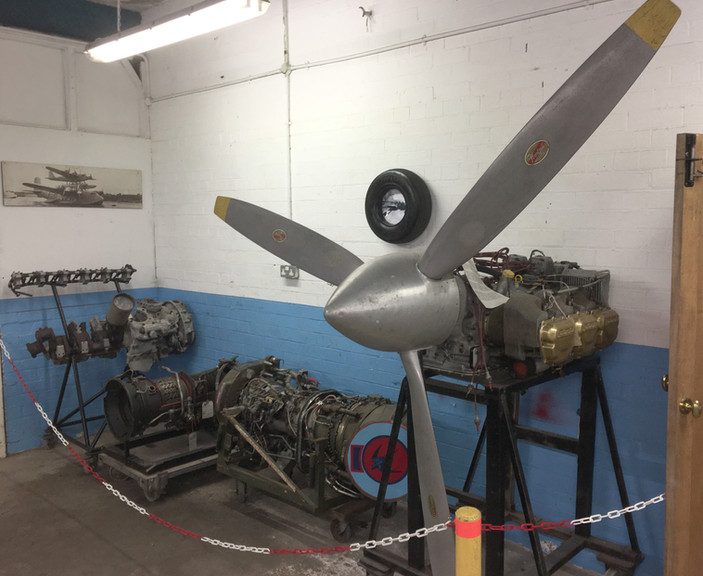 A selection of other engines within the Engine Room at the Ulster Aviation Society. Image: Mark J. Cairns