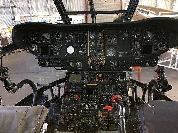 Puma HC1 Helicopter XW222 instrument panel in the main cockpit