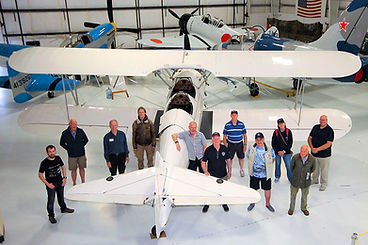 UAS members on their USA Tour of Aviation Museums during 2019