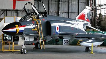 "Phantom FG.1 ""007"" in the Ulster Aviation Society hangars"