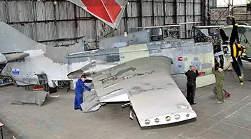 Fairey Gannet ECM.6 / AS.4 being restored at the Ulster Aviation Society